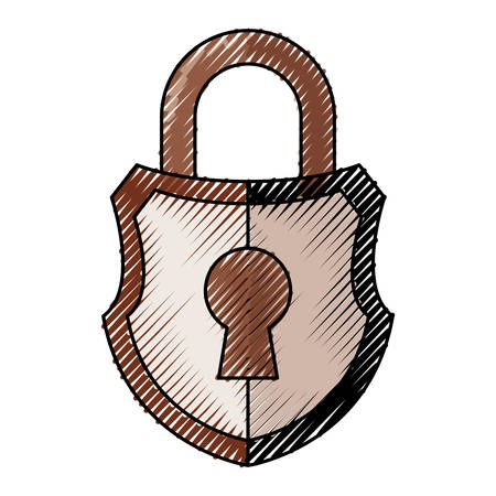 Padlock security symbol icon.