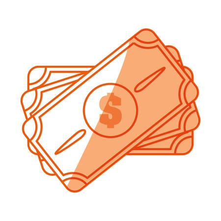 Money billet symbol icon vector illustration graphic design