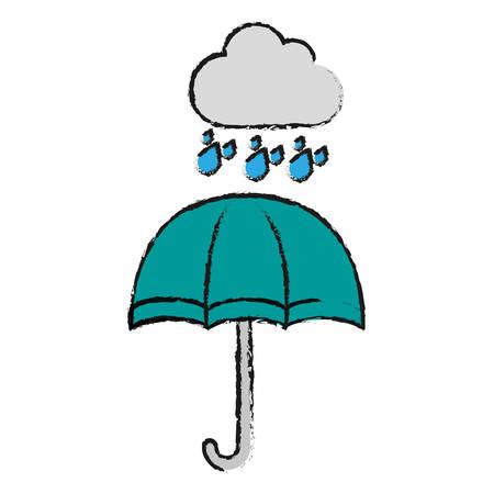 umbrella icon over white background vector illustration Illustration