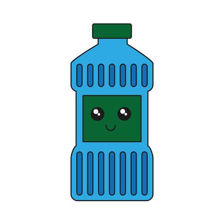 kawaii cleaning bottle icon over white background vector illustration Illustration