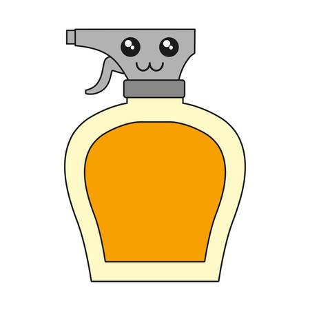 kawaii cleaning spray bottle icon over white background vector illustration Illustration