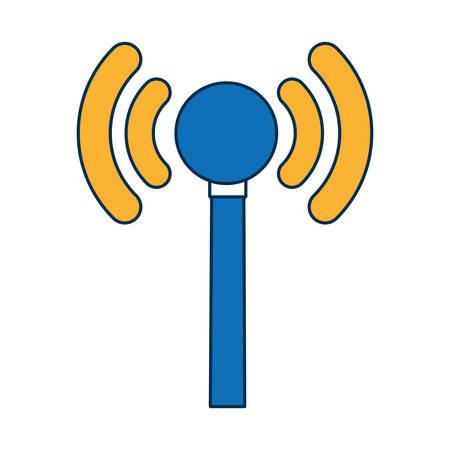 wireless icon over white background vector illustration Illustration