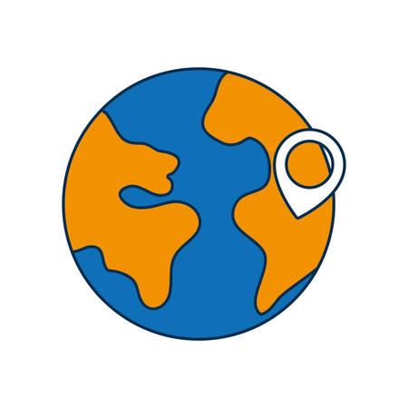 Earth icon. Illustration