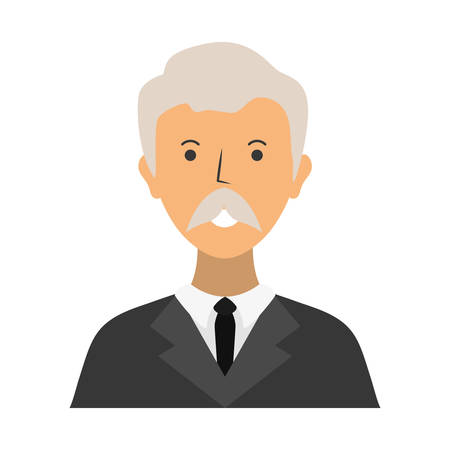 cartoon lawyer icon over white background vector illustration