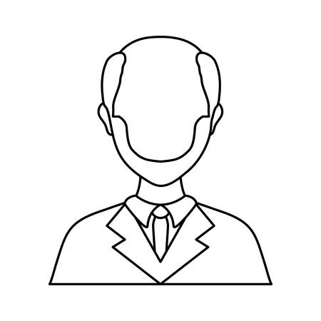 lawyer icon over white background vector illustration