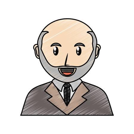 Cartoon lawyer icon over white background vector illustration Illustration