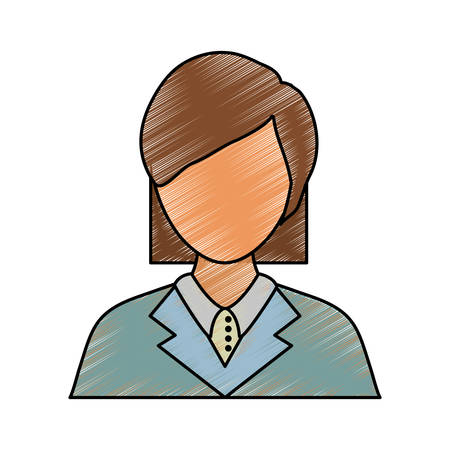 Woman lawyer icon over white background colorful design vector illustration