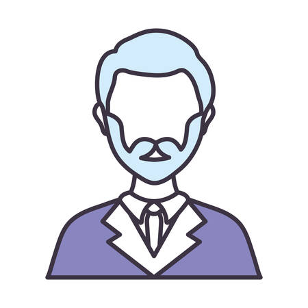Lawyer icon over white background colorful design vector illustration