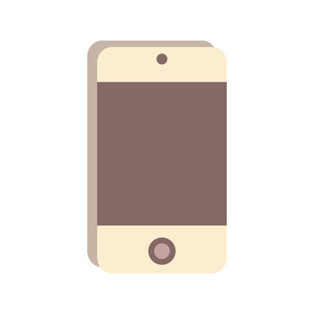smartphone device icon over white background vector illustration Illustration