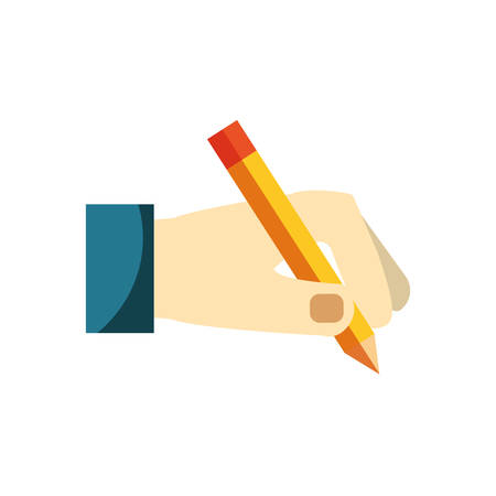 Pencil utensil icon over white background vector illustration.