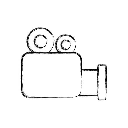 video camera icon over white background vector illustration Illustration