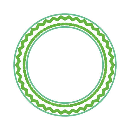 colored round ethnic frame over white background  vector illustration