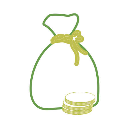 money sack icon over white background vector illustration Illustration