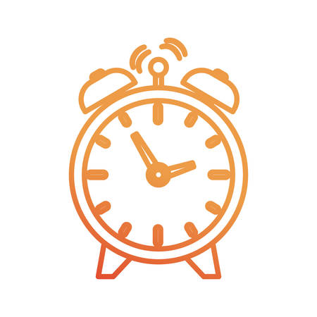 alarm clock icon over white background vector illustration