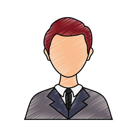 colored lawyer over white background vector illustration