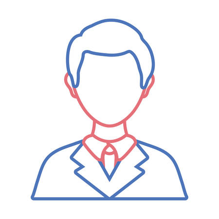 Flat line  colored lawyer over white background vector illustration Illustration