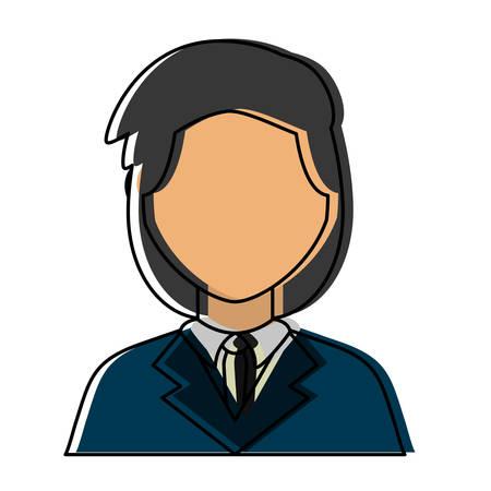 colorful  lawyer over white background vector illustration Illustration