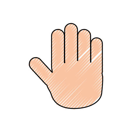 colored hand doodle  over white  background  vector illustration