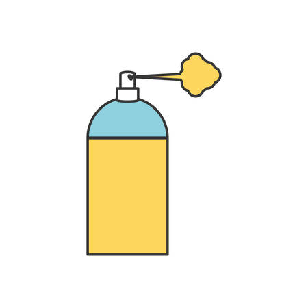 compressed air: spray bottle icon over white background vector illustration