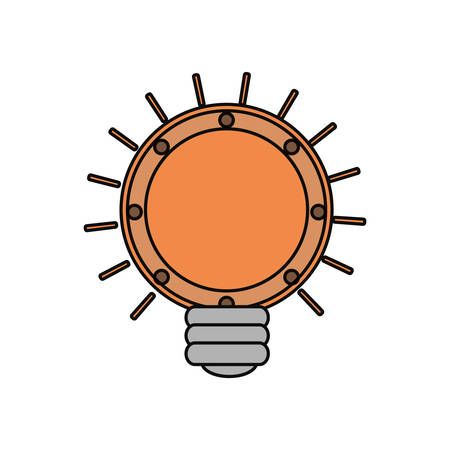 light bulb icon over white background colorful design vector illustration