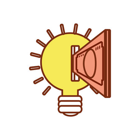 light bulb icon over white background colorful design vector illustration