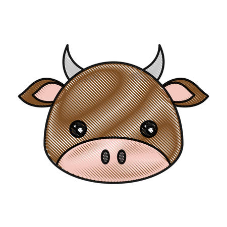 simple life: cute cow icon over white background colorful design vector illustration