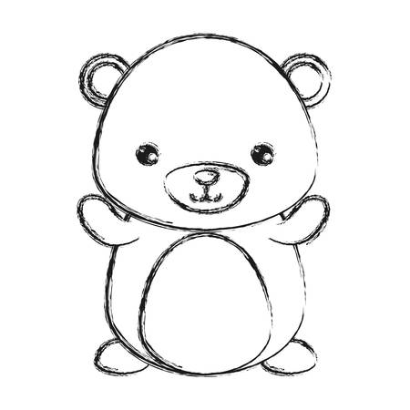 cute bear icon over white background vector illustration Illustration