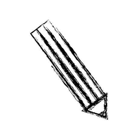 lápiz utensilio icono sobre fondo blanco ilustración vectorial Vectores