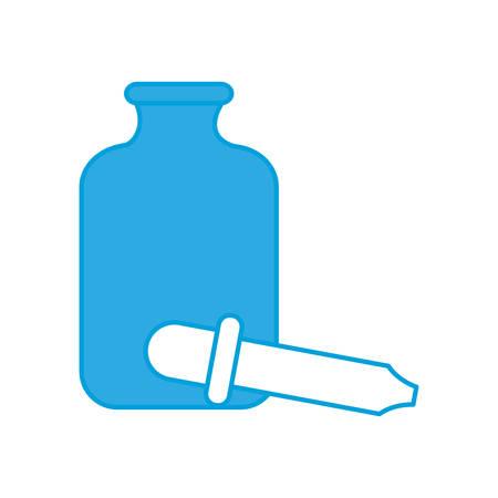 dropper icon over white background vector illustration