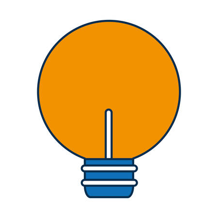 bulb light icon over white background vector illustration