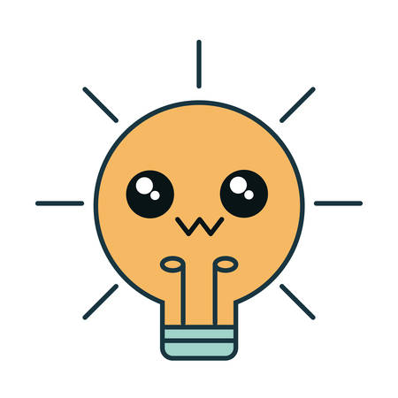 bulb light icon over white background vector illustration