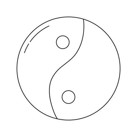 yin yang icon over white background vector illustration