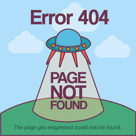 Design of error 404 with spacecraft icon over blue background colorful design vector illustration Illustration