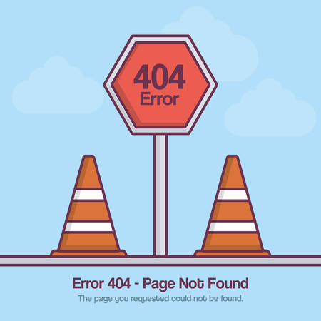 Design of error 404 with road signs icon over blue background colorful design vector illustration