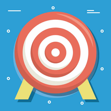 Target of solution success and strategy theme Vector illustration
