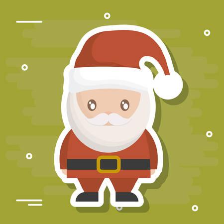 Santa of Merry Christmas season theme Vector illustration