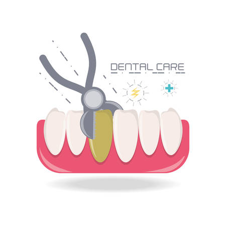 appointments: Teeth of dental care health hygiene and medical theme Vector illustration Illustration