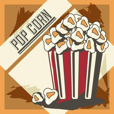 Pop corn of fast food urban and menu theme Vector illustration
