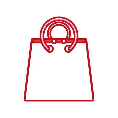 textile image: flat line  colored  bag  over white background  vector illustration