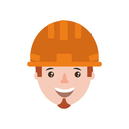 flammable: cartoon builder man with safety helmet icon over white background colorful design vector illustration