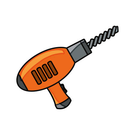 drill icon over white background vector illustration