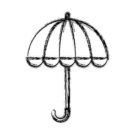 accessory: umbrella icon over white background vector illustration Illustration