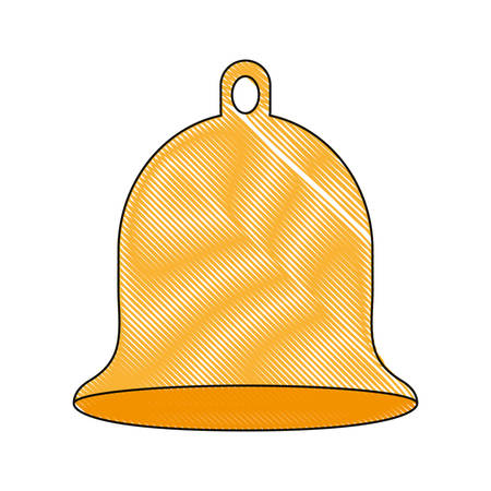 A bell icon over white background vector illustration. Illustration