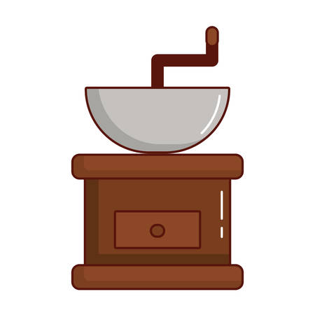 coffee grinder icon over white background vector illustration