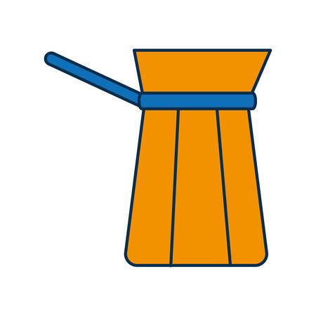 break time: coffee pot icon over white background vector illustration