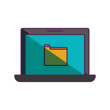 notebook: laptop computer icon over white background vector illustration Illustration
