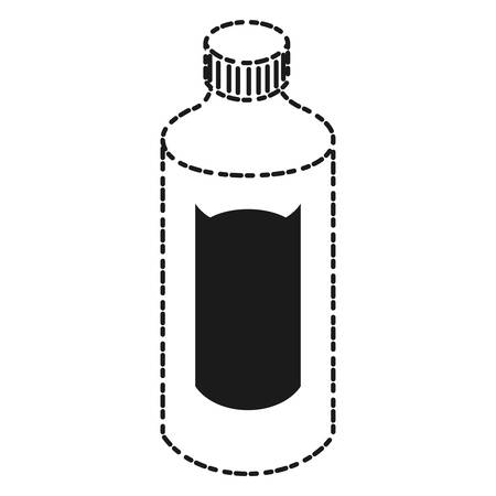 fitness equipment: water bottle icon over white background vector illustration