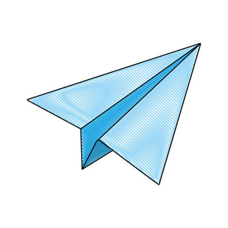 power: paperplane icon over white background vector illustration