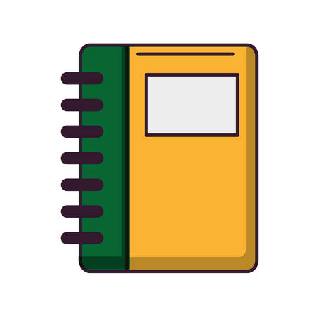 notebook: notebook icon over white background vector illustration