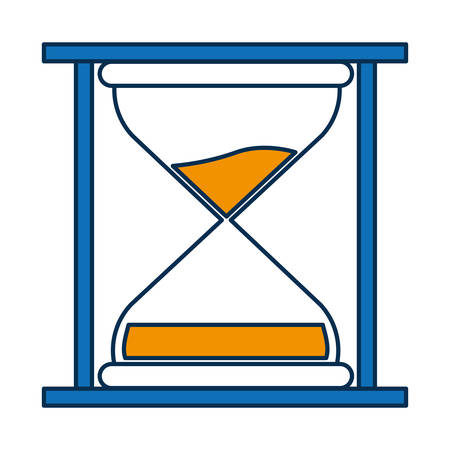 clock: hourglass icon over white background vector illustration Illustration